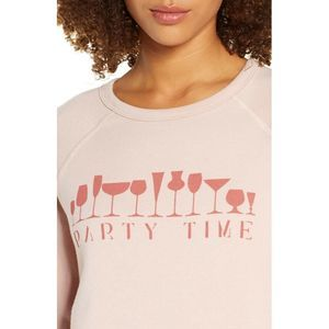 Project Social T Party Time Lounge Top Small Pink